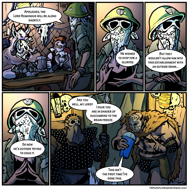 The mostly true story of the first time I got to go drinking with Lord Humungus